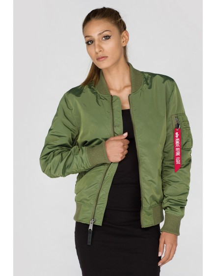 Oboustraná jarní bunda Alpha Industries MA-1 TT IP Reversible Wmn sage-green