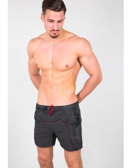 Pánské koupací šortky Alpha Industries Camo Swim Short black