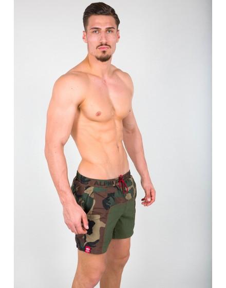 Pánské koupací šortky Alpha Industries Camo Swim Short wdl