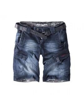 Thor Steinar jeansshort Rydal dunkelblau