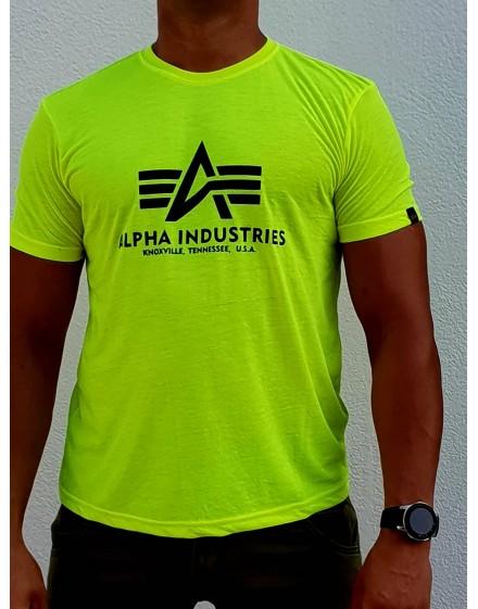 Pánské triko Alpha Industries Basic T neon yellow