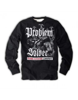 Pánské triko s dlouhým rukávem Thor Steinar Trouble black