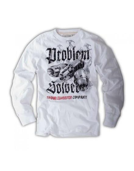 Pánské triko s dlouhým rukávem Thor Steinar Trouble white
