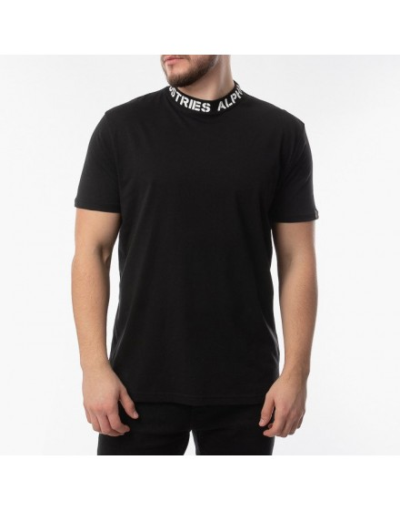Pánské triko Alpha Industries Neck Print black