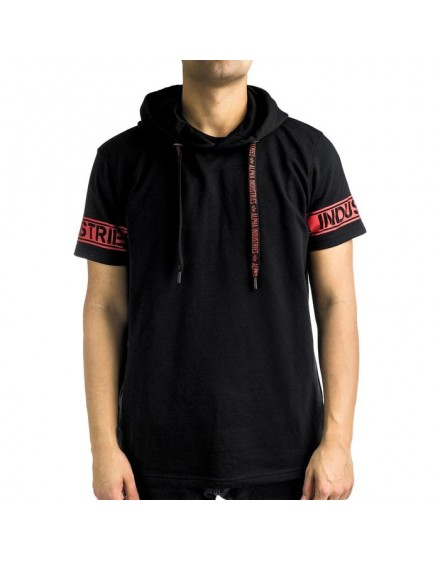 Alpha Industries Sleeve Print Hooded black