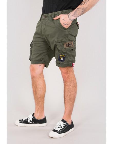 Pánské šortky Alpha Industries Crew Short Patch olive