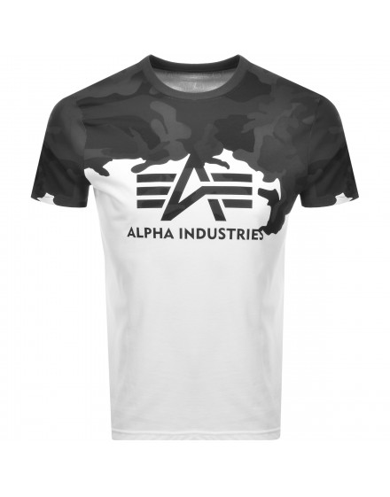 Alpha Industries pánské triko Lost Camo black