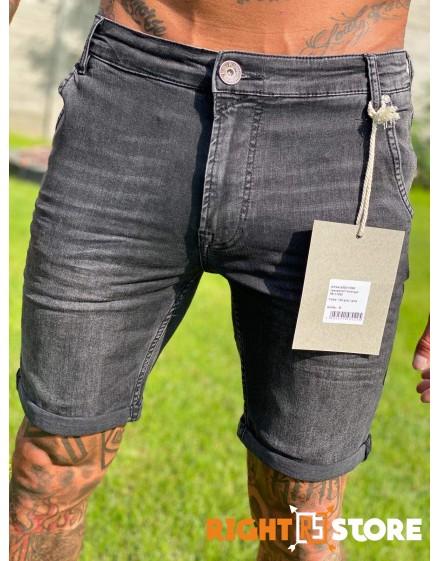 Thor Steinar pánské džínové šortky Varangar grau