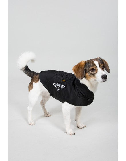 Alpha Industries Dog MA-1 Nylon Flight Jacket black