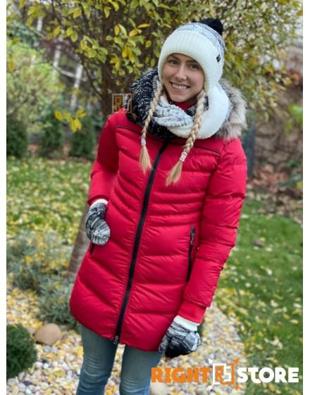 Thor Steinar dámská zimní bunda Saga red