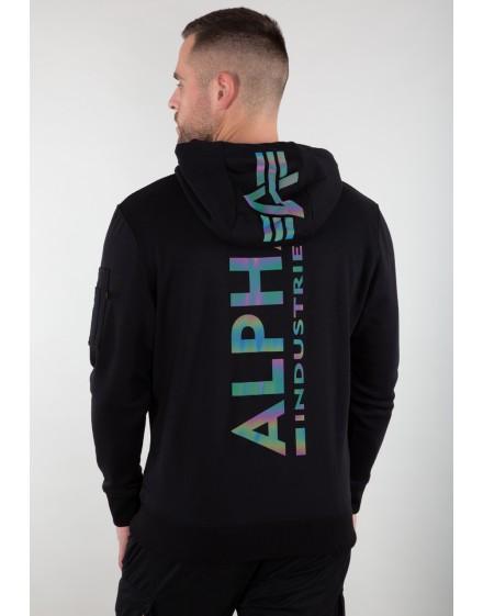 Alpha Industries pánská mikina Back Print Hoody Rainbow Reflective Print