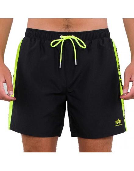 Alpha Industries koupací šortky Printed Stripe Swim Short