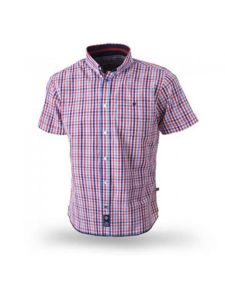 Košile Folksand modro-červená